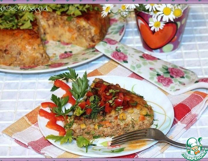 Рецепт: Ковбойский пирог в мультиварке