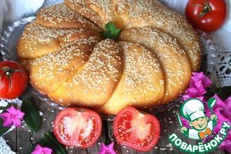 Рецепт: Томатный хлеб с кунжутом