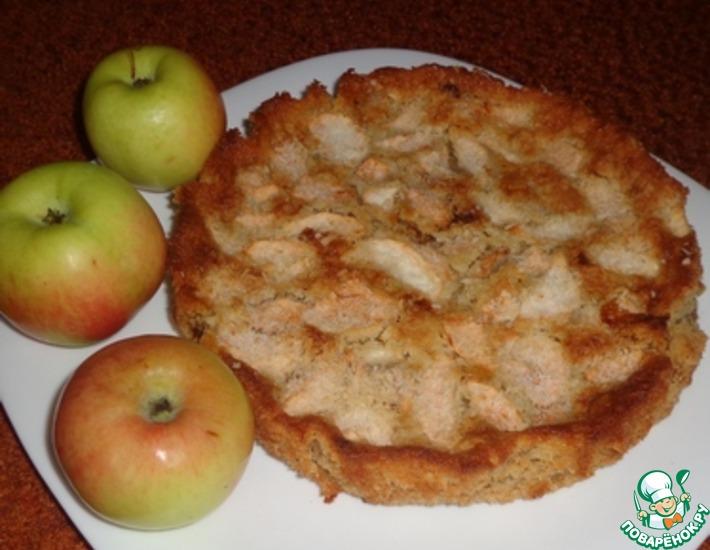 Рецепт: Яблочно-овсяный пирог Блаженство