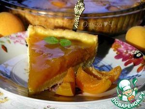 Рецепт Творожный тарт с абрикосово-апельсиновым желе