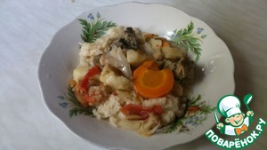 Овощи с мясом в пароварке