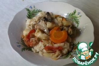 Рецепт: Овощи с мясом в пароварке