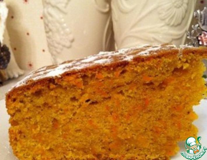 Рецепт: Морковный кекс с специями