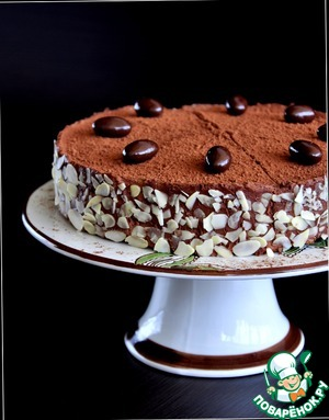 Chocolate-almond cake