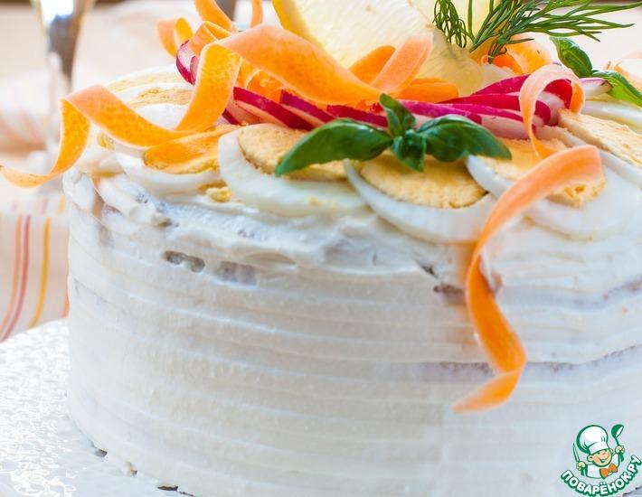 Рецепт: Шведский бутербродный торт