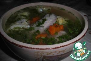 Рецепт Куриный бульон с омлетными блинчиками