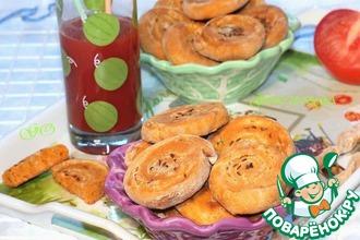 Рецепт: Закусочные пышки на томатном соке