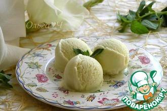 Рецепт: Мороженое Мятный виноград