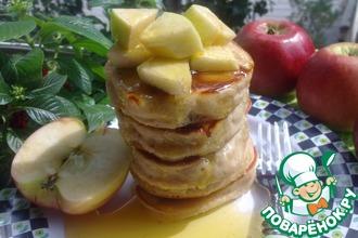 Рецепт: Оладьи с яблочным соком и мёдом