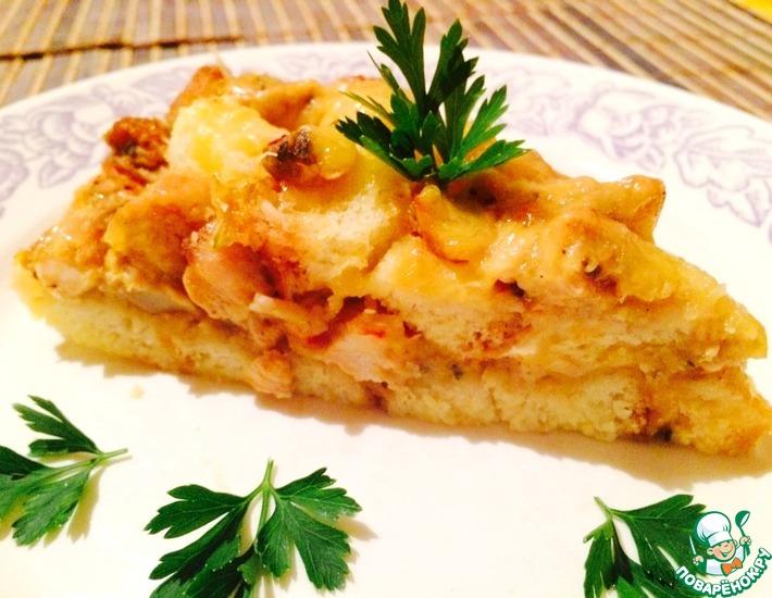 Рецепт: Пирог с курицей и грибами Проще не бывает
