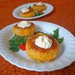 Морковно-нутовые котлеты с творожно-сливочной начинкой