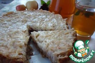 Рецепт: Яблочный пирог на овсяном корже