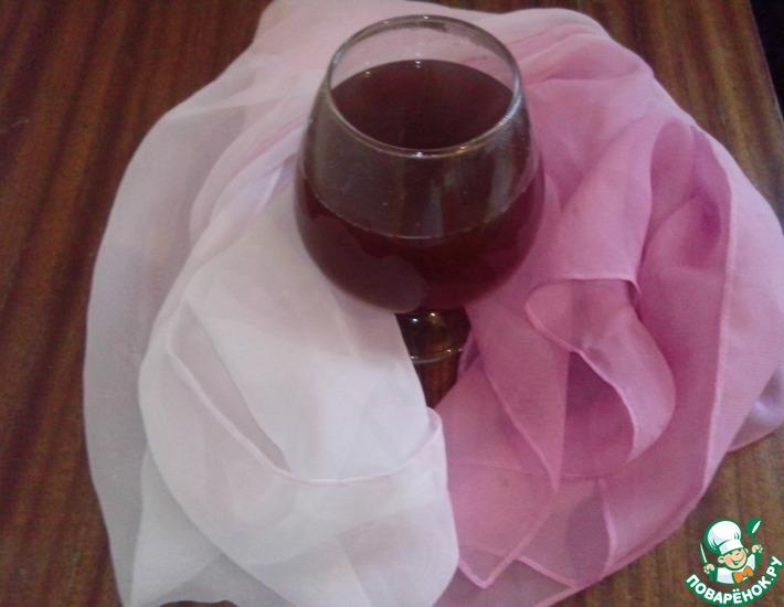 Рецепт: Напиток горячий Виноградное яблоко