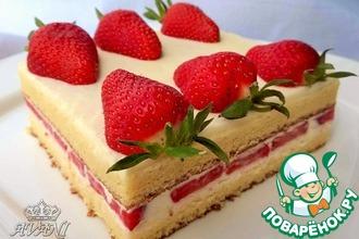 Рецепт: Японский клубничный тортик
