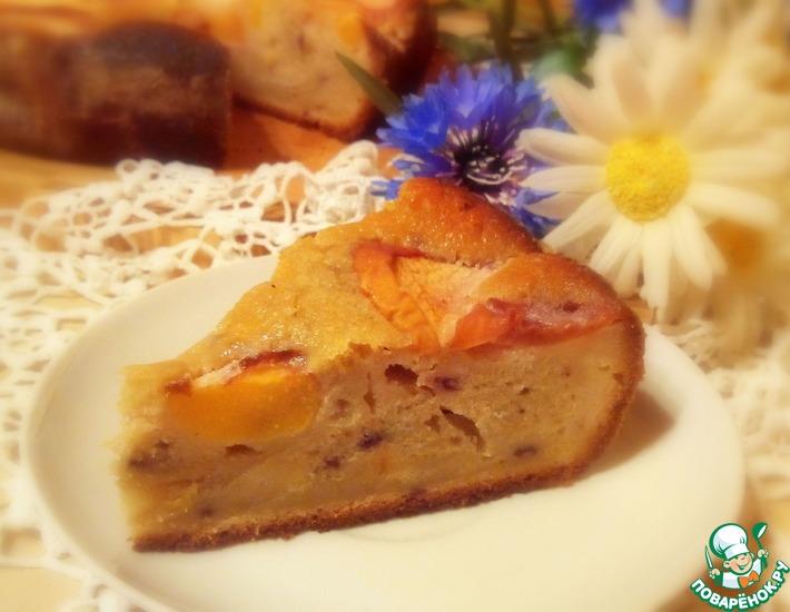 Рецепт: Шикарный пирог с персиками