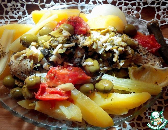 Рецепт: Щука с овощами