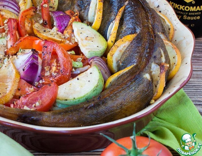 Рецепт: Терпуг, запеченный с овощами