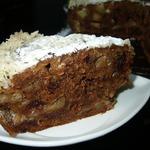 Яблочный пирог с финиками под сливочно-кокосовой заливкой