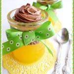 Апельсиновое желе со сливочно-шоколадным муссом
