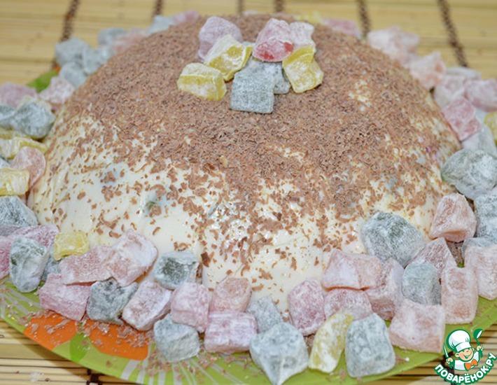 Рецепт: Молочное желе с ягодами и печеньем