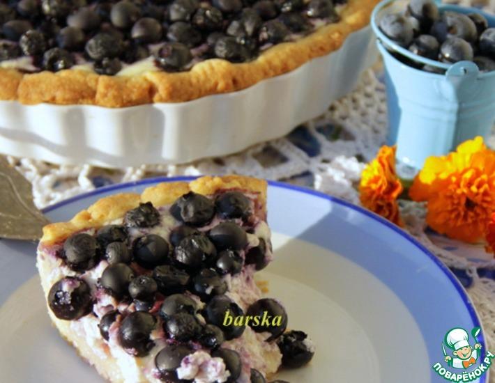 Рецепт: Финский пирог с черникой или голубикой