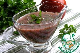 Рецепт: Томатный соус с травами (без варки)