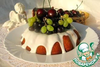 Рецепт: Творожно-вишневый кекс