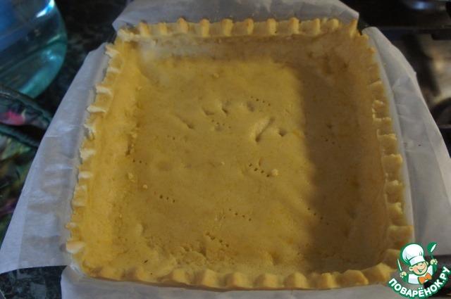 Чернично-лимонный пирог с мятно-сахарной крошкой