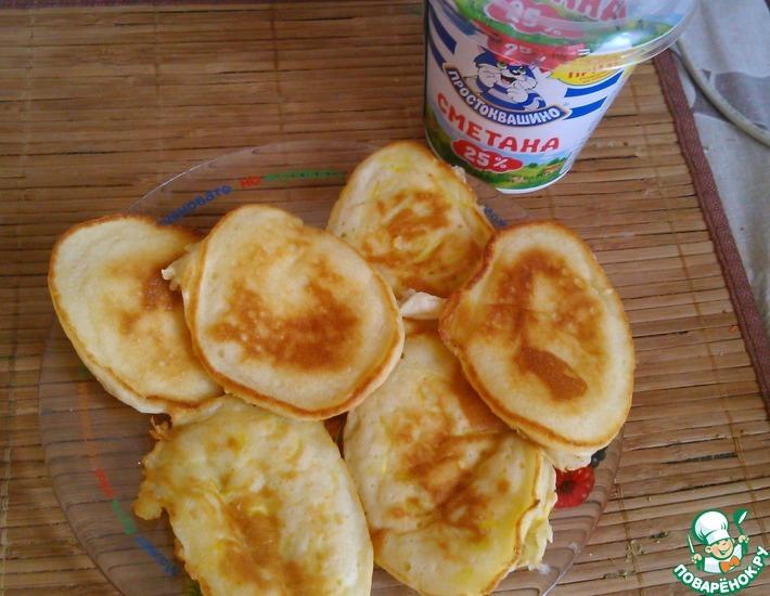 Рецепт: Оладьи с кабачком и чесноком