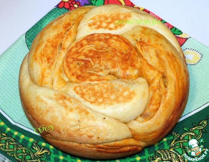 Рецепт: Мраморный хлеб в мультиварке
