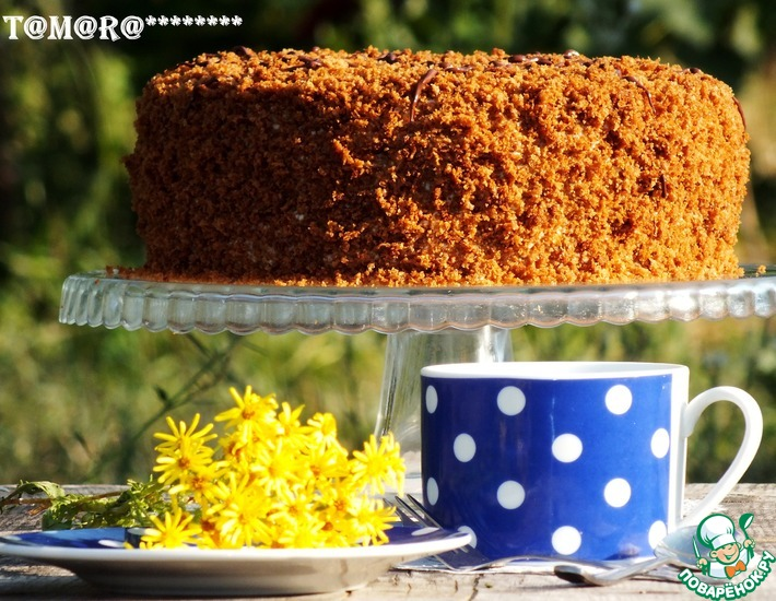 Рецепт: Торт Медовик бархатный