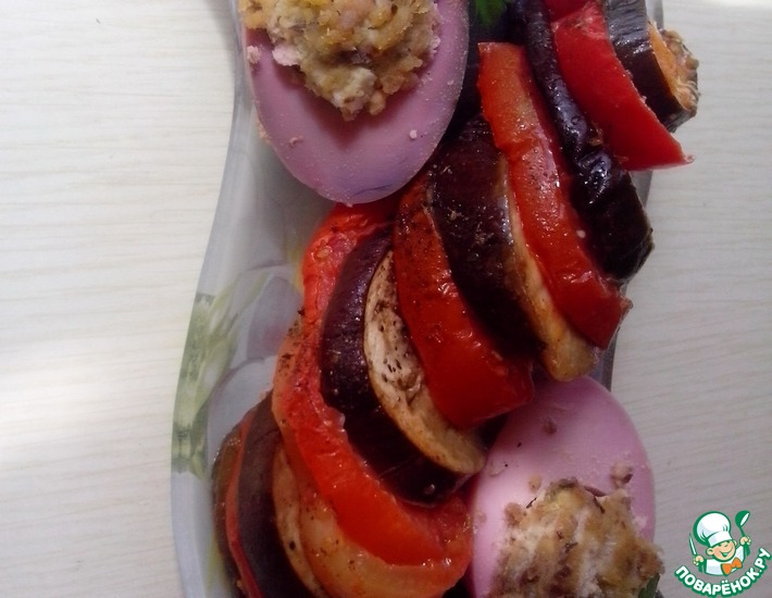 Рецепт: Овощи запеченные Летнее трио