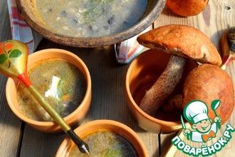 Рецепт: Грибной суп с овсянкой