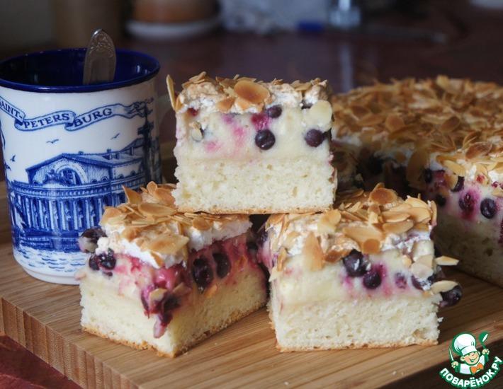 Творожной пирог со смородиной