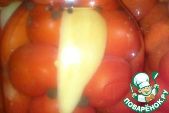 Рецепт: Консервированные помидорки-Вкусняшка