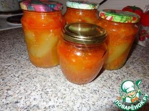Рецепт Фаршированный овощами болгарский перец (на зиму)