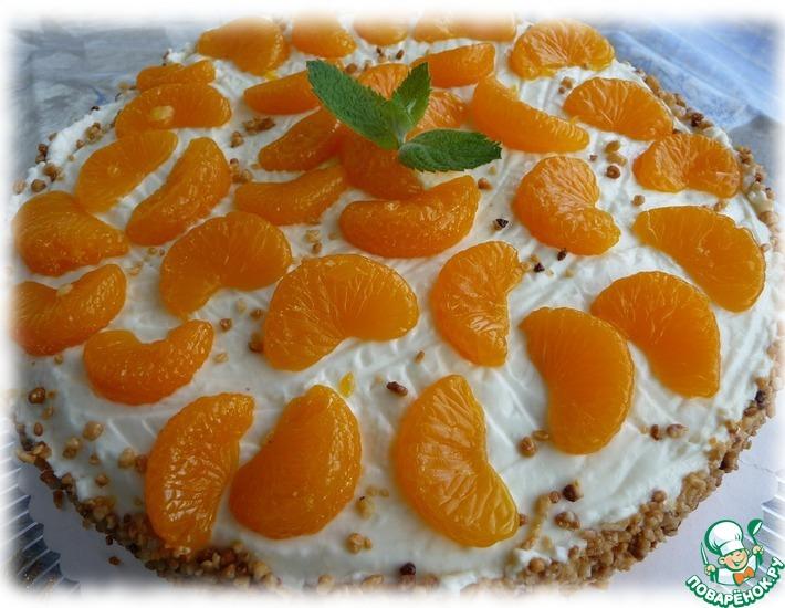 Рецепт: Мандариновый торт с пралине (Mandarinentorte mit Krokant)