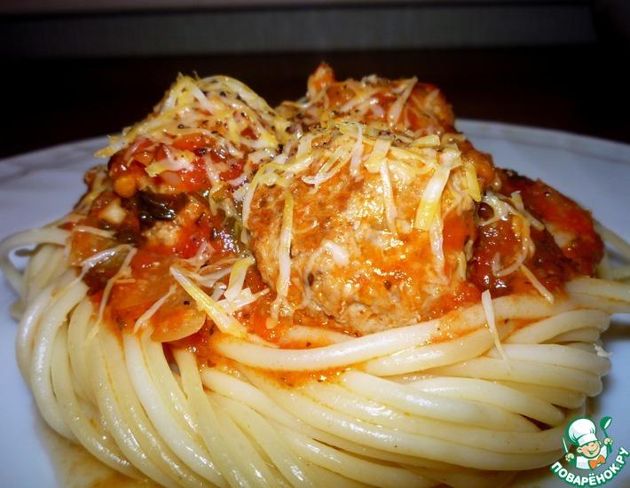 Рецепт: Пикантные тефтели в томатном соусе