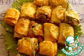 Рецепт: Закуска из кабачков Тещин язык