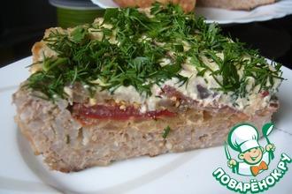 Рецепт: Мясная запеканка с баклажанами и помидорами (в мультиварке)