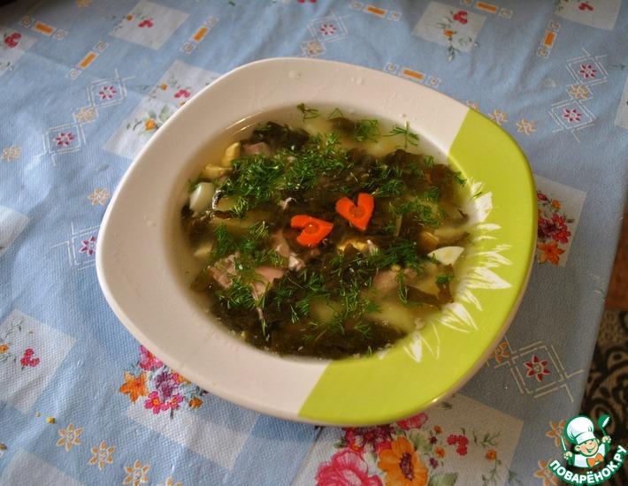 Рецепт: Щавелевый суп с индейкой