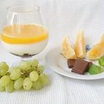 Панна котта с апельсиновым желе и шоколадом