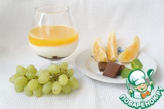 Рецепт: Панна котта с апельсиновым желе и шоколадом