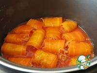 Рулетики из моркови с тушёной капустой ингредиенты