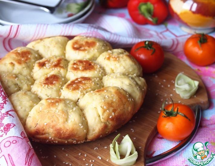 Рецепт: Капустные булочки с кунжутом