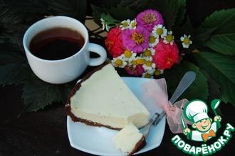Рецепт: Творожный пирог с шоколадным тестом в мультиварке