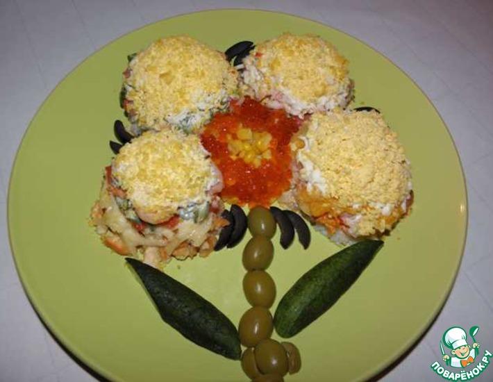 Рецепт: Салат Ассорти с семгой
