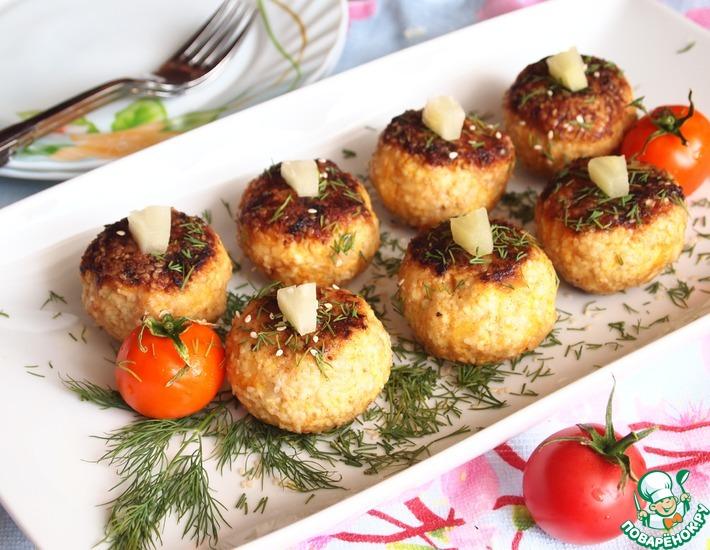 Рецепт: Куриные шарики с ананасами
