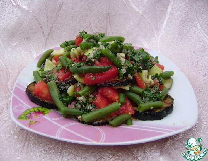 Рецепт: Салат с кабачками и фасолью