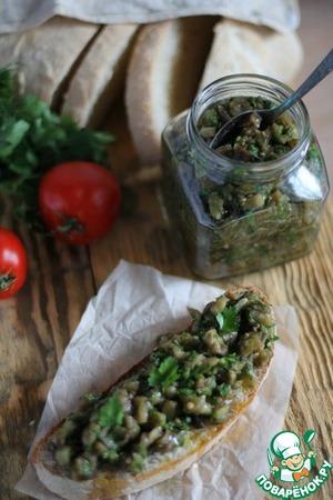 Рецепт Икра из печёных баклажанов с печёным чесноком и зеленью «Идеальная»